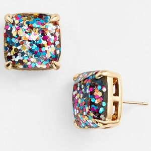 NWOT Kate Spade Multi Glitter Stud Earrings